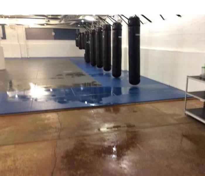 Water damage to a local business Before