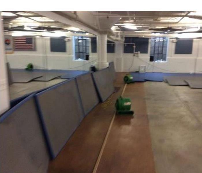 Water damage to a local business After